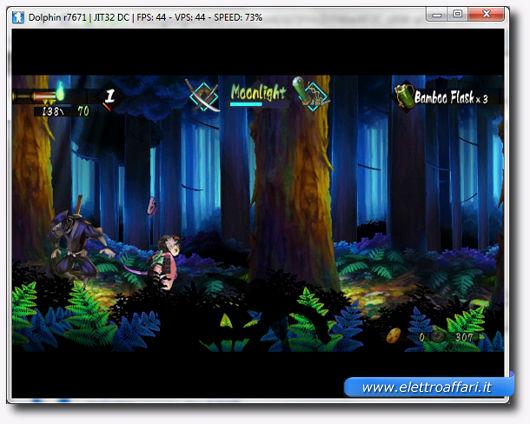 Schermata dell'Emulatore in azione