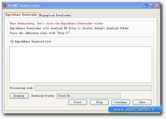 rapidshare e magaupload downloader