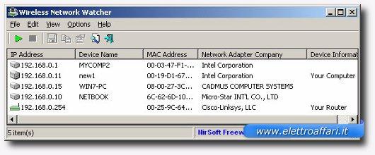 Programma per controllare la connessione wireless