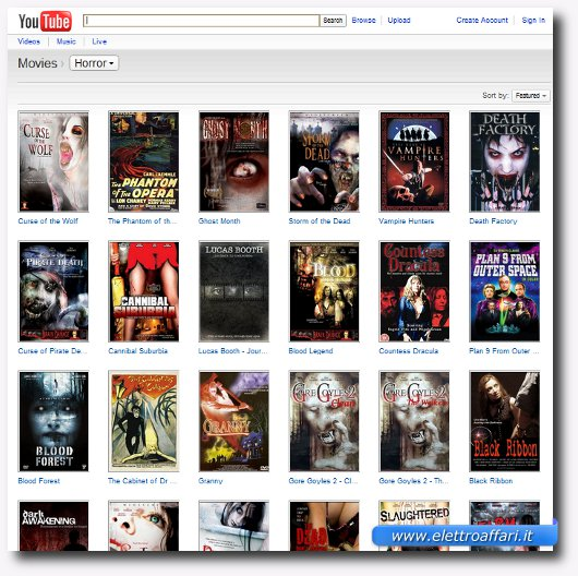 film horror su youtube