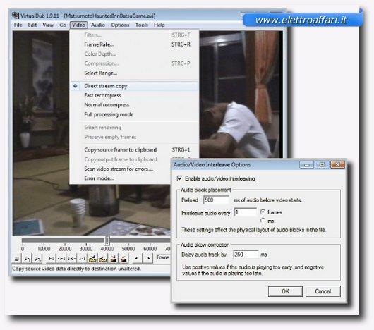 sincronizzazione con virtualdub