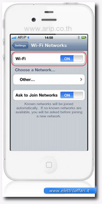 disattivare il wifi