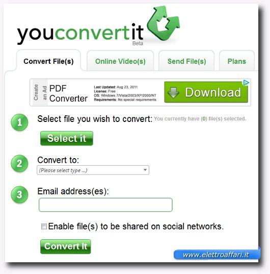 Terzo sito per convertire file online