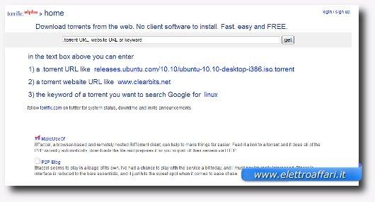 Servizio web per scaricare file torrent con l'iPad