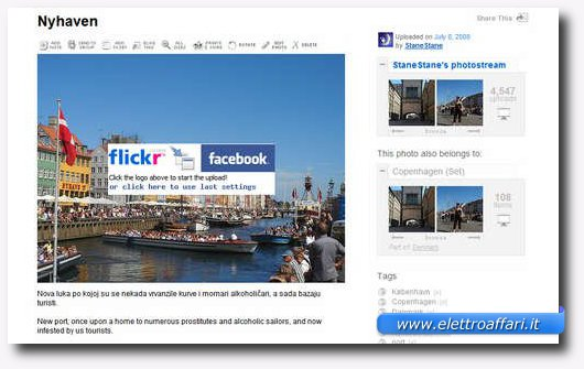 Condividere su Facebook le foto di Flickr