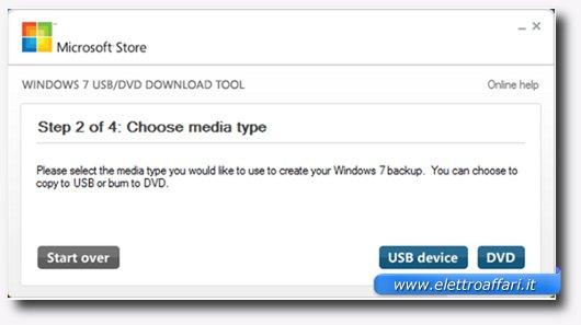 Secondo passaggio per creare una bootable USB Drive