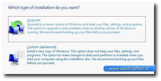 Installazione Windows 7