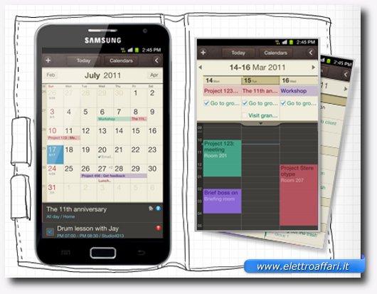 S Planner di Samsung Galaxy Note