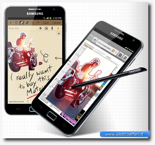 Copia e annotazioni sul Samsung Galaxy Note