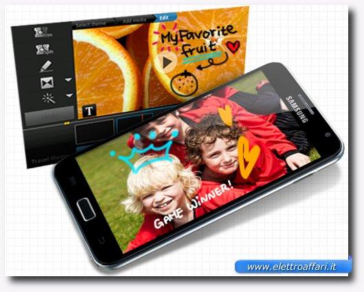Personalizzazione di foto e video sul Samsung Galaxy Note
