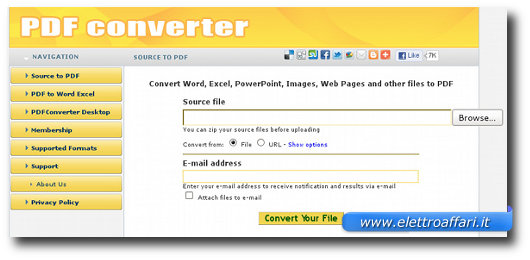 Altro metodo per convertire PDF e modificarli