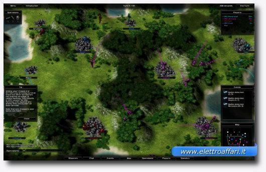 Interfaccia grafica di uno dei migliori giochi per Linux