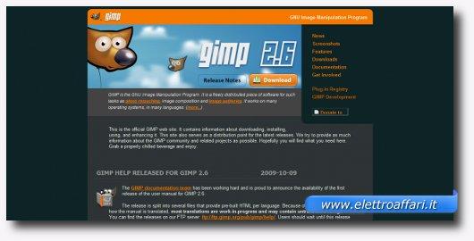 Interfaccia grafica di Gimp