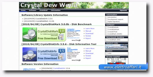 Interfaccia grafica di Crystal Dew World
