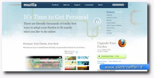Interfaccia grafica di Mozilla Firefox