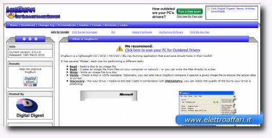 Interfaccia grafica di ImgBurn