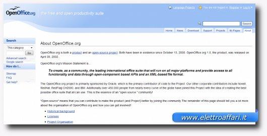 Interfaccia grafica di Open Office