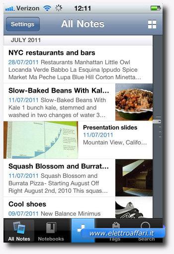 Evernote: una delle più importanti applicazioni per iPhone 4S
