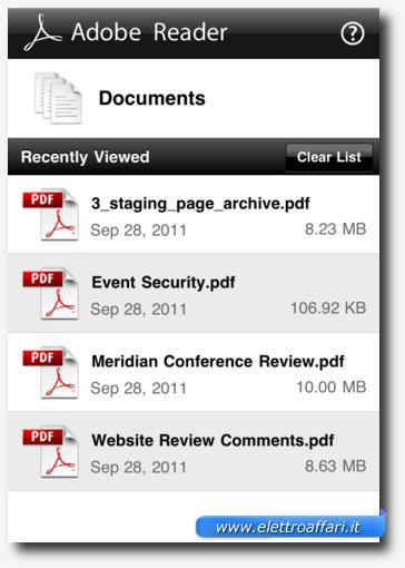 Adobe Reader: una delle più importanti applicazioni per iPhone 4S