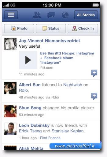 Facebook: una delle più importanti applicazioni per iPhone 4S