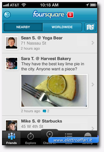 Foursquare: una delle più importanti applicazioni per iPhone 4S