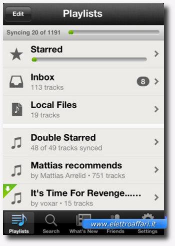 Prima applicazione di musica per iPhone, iPad e iPod Touch
