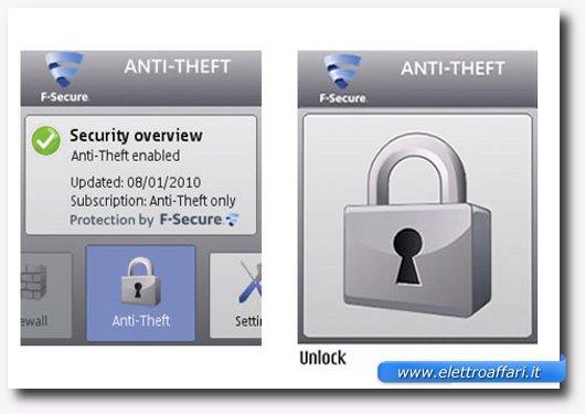 Interfaccia del software per rintracciare i cellulari