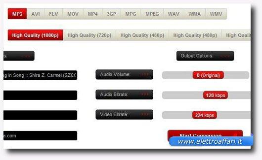 Immagine di Xenra, uno dei siti per scaricare e convertire video online
