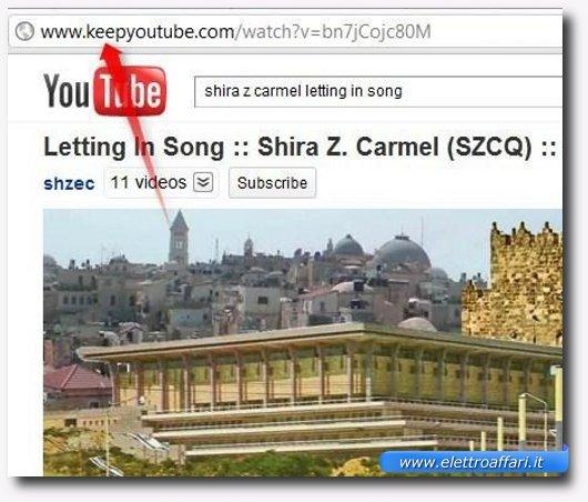 Immagine di Keep-Tube, uno dei siti per scaricare e convertire video onl