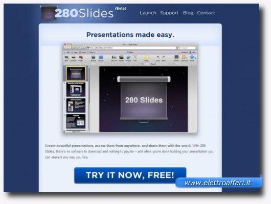 Primo servizio online per creare presentazioni stile PowerPoint