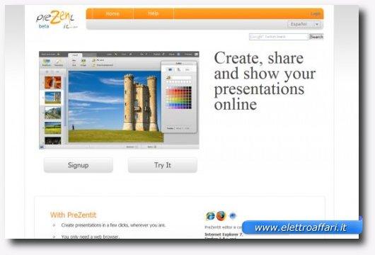 Secondo servizio online per creare presentazioni stile PowerPoint