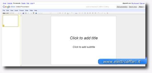 Terzo servizio online per creare presentazioni stile PowerPoint