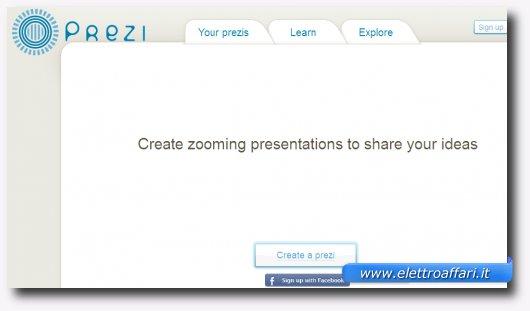 Settimo servizio online per creare presentazioni stile PowerPoint