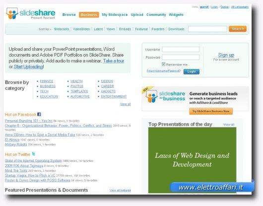 Nono servizio online per creare presentazioni stile PowerPoint