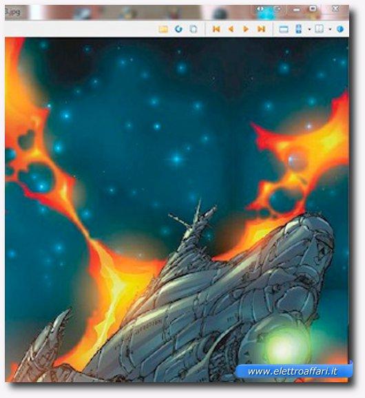 Interfaccia grafica del primo programma per leggere manga e fumetti