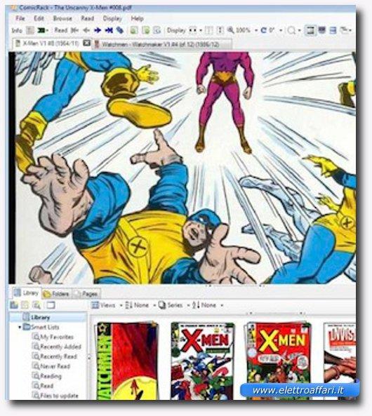 Interfaccia grafica del secondo programma per leggere manga e fumetti