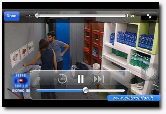 Interfaccia grafica dell'applicazione FilmOn