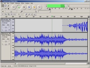 Interfaccia grafica del programma Audacity