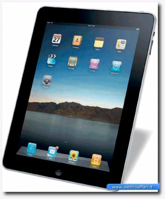 Immagine di un iPad, tablet con sistema operativo iOS