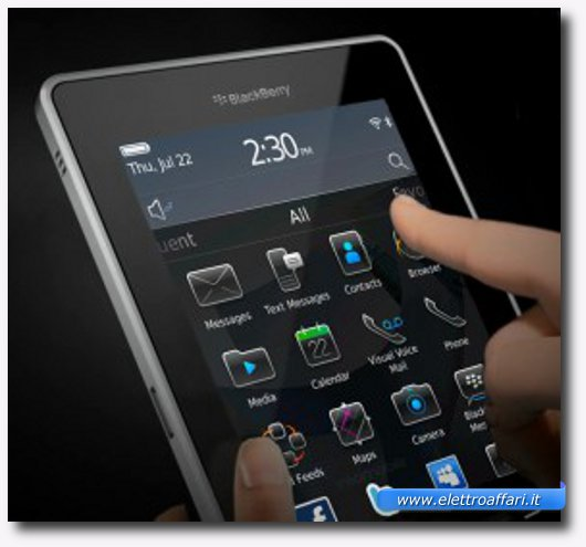 Immagine di un tablet BlackBerry