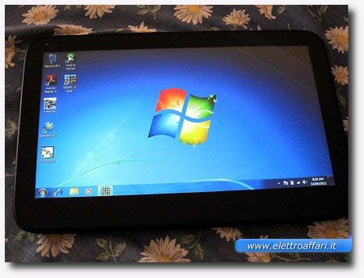 Immagine di un tablet con sistema operativo Windows 7