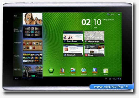 Immagine del tablet Acer Iconia Tab A500