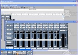 Interfaccia grafica del programma Kristal Audio Engine