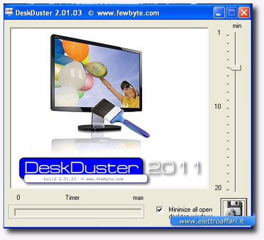 Immagine di Desk Duster, programma per Windows