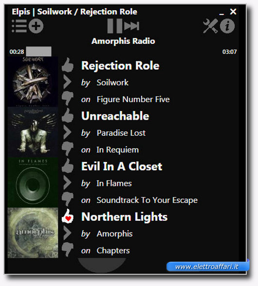 Immagine di Elpis Pandora Desktop Client, programma per Windows