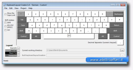 Immagine di Microsoft Keyboard Layout Creator, programma per Windows