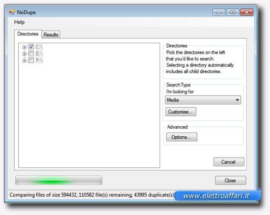 Immagine di No Dupe, programma per Windows