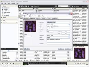 Interfaccia del programma MusicBee per ascoltare musica sul PC