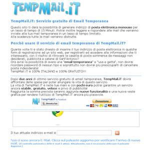 Ottavo servizio per creare un indirizzo email temporaneo