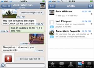 WhatsApp Messenger per iPhone